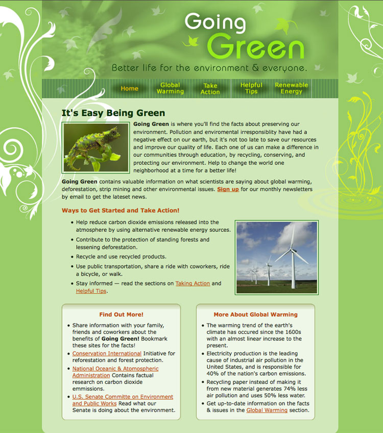 improving the quality of life by going green Green living options to help improve your quality of life it's important to be good to ourselves, not just others eating well is one part, but that's not all.